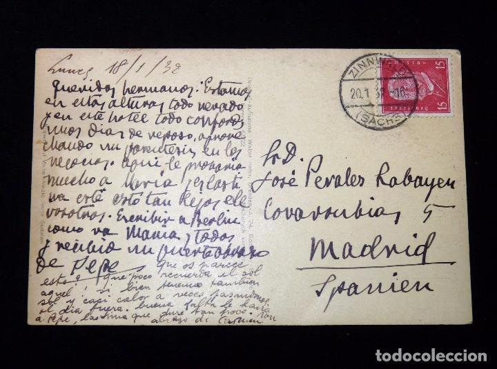Postales: ANTIGUA POSTAL BERGHOF RAUPENNEST, ALTENBERG. AUFNAHME, DRESDEN 1932 - Foto 2 - 85345440