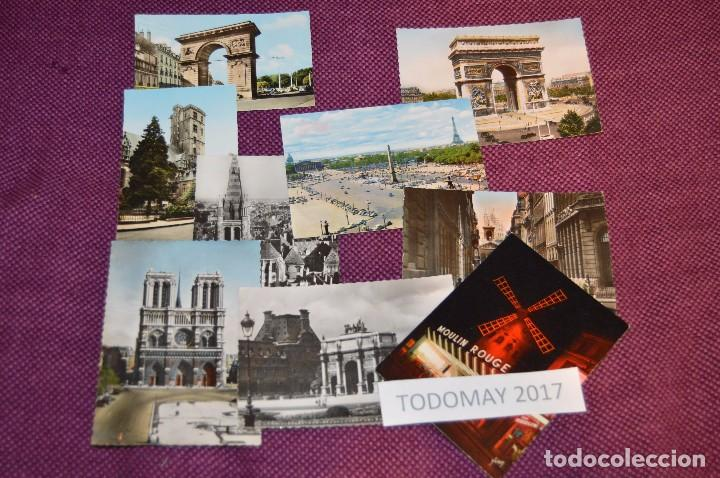 LOTE 8 POSTALES SIN CIRCULAR - FRANCIA - PARIS - DIJON - AÑOS 50 / 60 - VINTAGE - ¡¡HAZME OFERTA!! (Postales - Postales Extranjero - Europa)