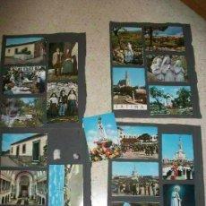 Postales: LOTE 20 MINIPOSTALES DE FATIMA ( PORTUGAL) , SANTUARIO, ETC.. PEGADAS EN ALBUM . 7,5 X 10,5 CM. Lote 86327736