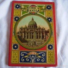 Postales: **ANTIGUO LLIBRITO DE POSTALES DE ROMA** 28 ANTIGUAS POSTALES Y UNA EXTENSIBLE QUE VALE POR 4!!!!!. Lote 86366132