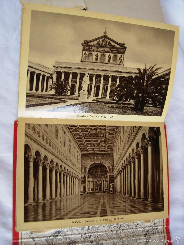 Postales: **ANTIGUO LLIBRITO DE POSTALES DE ROMA** 28 ANTIGUAS POSTALES Y UNA EXTENSIBLE QUE VALE POR 4!!!!! - Foto 3 - 86366132