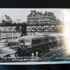 Postales: 10504 INTERCITY DIESEL TRAIN LEAVING EDINBURGH WAVERLEY STATION POSTAL SIN CIRCULAR. Lote 86734784