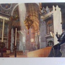 Postales: ROMA-BASILICA DE SAN PEDRO-INTERNO-TARJETA POSTAL. Lote 86794912