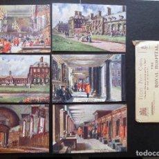 Postales: 6 POSTALES ORIGINALES DE ÉPOCA DEL HOSPITAL REAL DE CHELSEA (LONDRES).EDITADAS POR TUCK'S POST CARTS. Lote 87061568