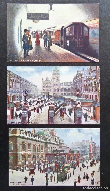 Postales: 6 postales originales de época de Estaciones de Ferrocarril Londres. Editadas por Tucks Post Carts - Foto 3 - 87061864