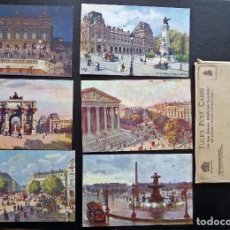 Postales: 6 POSTALES DE PARIS ORIGINALES DE ÉPOCA. EDITADAS POR TUCK'S POST CARDS, EN SU SOBRE ORIGINAL. Lote 87062052
