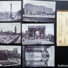 Postales: 6 POSTALES DE LONDRES, ORIGINALES DE ÉPOCA. EDITADAS POR TUCK'S POST CARTS, CON SU SOBRE ORIGINAL. Lote 87062156