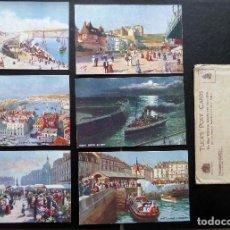 Postales: 6 POSTALES DE DIEPPE (FRANCIA) ORIGINALES DE ÉPOCA. EDITADAS POR TUCK'S POST CARDS. VER COMENTARIOS. Lote 87062364