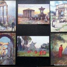 Postales: 6 POSTALES DE ROMA ORIGINALES DE ÉPOCA. EDITADAS POR TUCK'S POST CARDS. VER COMENTARIOS. Lote 87062504