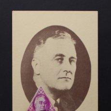 Postales: MONACO TARJETA MAXIMA, FRANKLIN D. ROOSEVELT 1882-1945, MATASELLOS PRINCIPADO DE MONACO. Lote 87352568