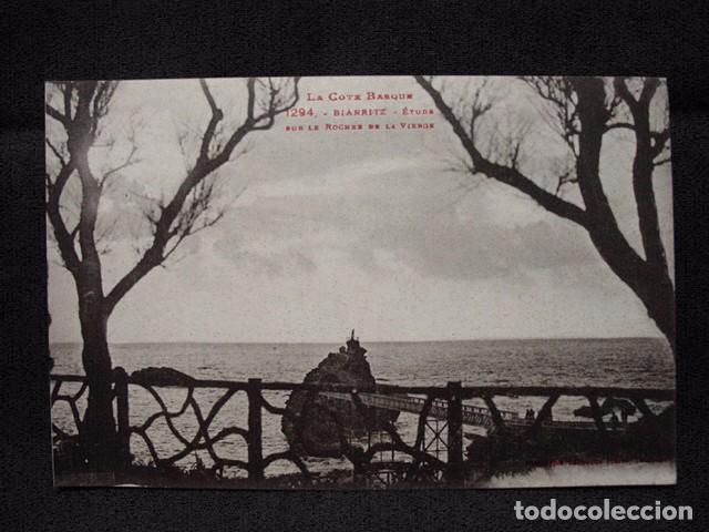(XEU-18) POSTAL BIARRITZ ÉTUDE SUR LE ROCHER DE LA VIERGE- LADO VASCO –ED. LABOUCHE-PPIO 1900 (Postales - Postales Extranjero - Europa)