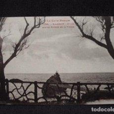 (XEU-18) POSTAL BIARRITZ ÉTUDE SUR LE ROCHER DE LA VIERGE- LADO VASCO –ED. LABOUCHE-PPIO 1900