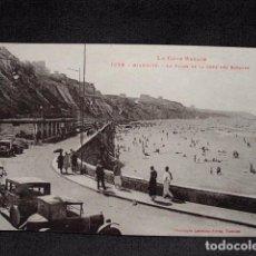 Postales: (XEU-25)-POSTAL BIARRITZ LA PLAGE DE LA COTE DES BASQUES- LADO VASCO –ED. LABOUCHE-PPIO 1900. Lote 87605584