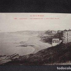 Postales: (XEU-28)-POSTAL GUETHARY VUE D'ENSEMBLE DE LA COTE JUSQU'A BIDART-ED. LABOUCHE- LADO VASCO-PPIO 1900. Lote 87605980