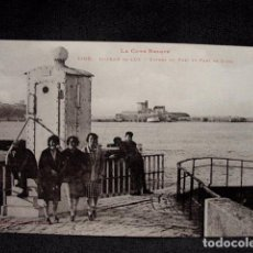 Postales: (XEU-38)-POSTAL ST JEAN DE LUZ ENTREE DU PORT ET FORT SOCOA- LADO VASCO –ED. LABOUCHE-PPIO 1900. Lote 87606808