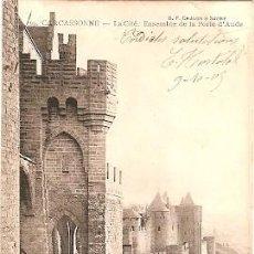 Postales: FRANCIA & CIRCULADO, LA PORTE DE AUDE, CARCASSONNE, PARA AVEIRO PORTUGAL 1905 (39). Lote 87637620