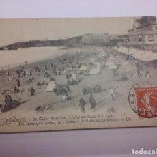 Postales: BIARRIZ. EL CASINO MUNICIPAL Y PLAYA. 1919 PAÍS VASCO (FRANCIA). Lote 87875068