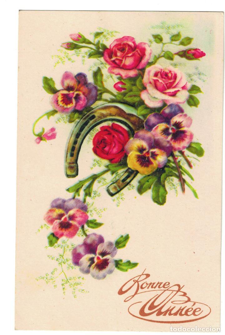Antigua Carta Felicitacion Navidad 1944 Frances Comprar Postales
