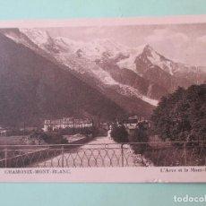 Postales: 3943 FRANCIA FRANCE HAUTE SAVOIE CHAMONIX-MONT-BLANC - L'ARVE ET LE MONT-BLANC. Lote 89308920