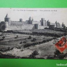 Postales: 3944 FRANCIA FRANCE AUDE CITÉ DE CARCASSONNE CARCASONA VUE GÉNÉRALE DU SUD 1912. Lote 89309180