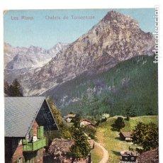 Postales: ANTIGUA POSTAL - SUIZA/ SWITZERLAND - LES PLANS - CHALETS DE TORNERESSE - COLOREADA - SIN USAR. Lote 89720416