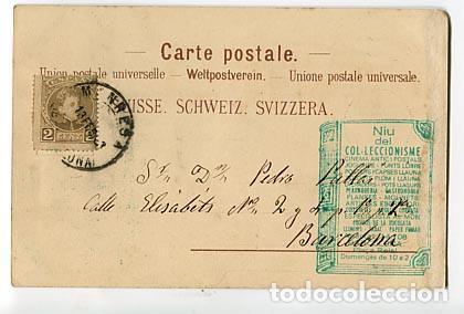 ab941b88f Postales  SUIZA KURSAAL INTERLAKEN RUINE UNSPUNNEN ED MULLER   TRUB. SIN  DIVIDIR. SIGLO