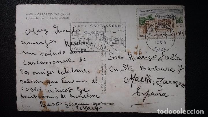 Postales: Carcassonne - Aude -( Francia ) Ensemble de la Porte dAude - 6469 - Foto 2 - 91553995