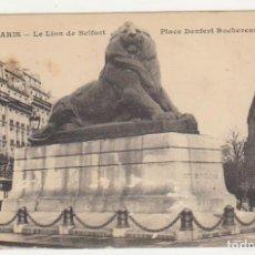 Postales: PARIS.- LE LION DE BELFORT.. Lote 92348650