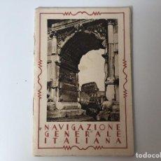 Postales: LOTE DE POSTALES, SERVICIOS MARÍTIMOS DE LA N.G.I (NAVIGAZIONE GENERALE ITALIANA) 1929 . Lote 93310650