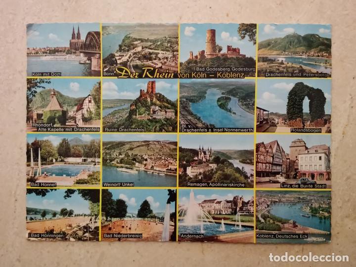 ANTIGUA POSTAL -10*15- KOLN KOBLENZ DER RHEIN ALEMANIA - CAJON (Postales - Postales Extranjero - Europa)