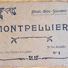 Postales: ALBUM DE 20 POSTALES DE MONTPELLIER COMPLETO - EDICION DE NOUVELLES GALERIES. Lote 93782490