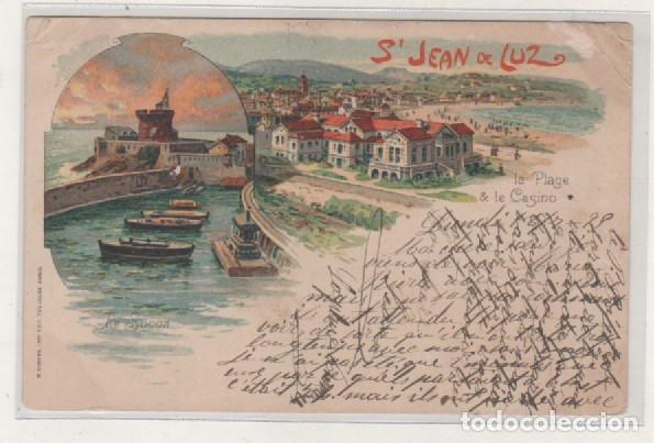 POSTAL TIPO GRUSS SAN JUAN DE LUZ. SAN JEAN DE LUZ. FRANCIA. SIGLO XIX (Postales - Postales Extranjero - Europa)