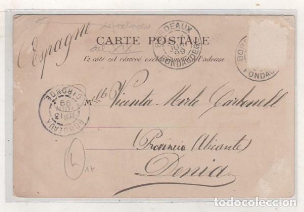 Postales: Postal tipo Gruss San Juan de Luz. San Jean de Luz. Francia. Siglo XIX - Foto 2 - 94144215