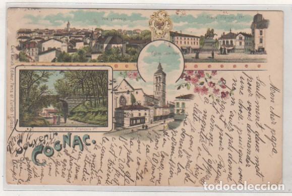 POSTAL TIPO GRUSS COÑAC. SOUVENIR COGNAC. SIGLO XIX FRANCIA. (Postales - Postales Extranjero - Europa)