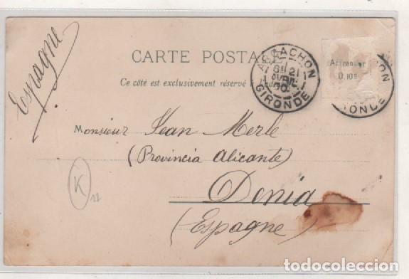 Postales: Postal tipo Gruss Coñac. Souvenir Cognac. Siglo XIX Francia. - Foto 2 - 94144605