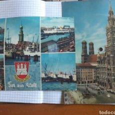 Postales: POSTALES DISCO DE VINILO HAMBURGO. Lote 94333756
