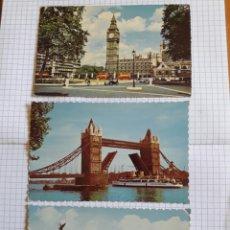 Postales: LOTE 3 POSTALES LONDRES. Lote 94372244
