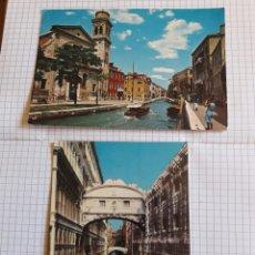 Postales: LOTE 2 POSTALES CIRCULADAS VENECIA 1977. Lote 94372934