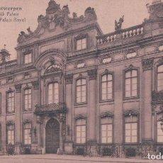 Postales: POSTAL BELGIQUE -ANVERS / ANTWERPEN- ANTWERPEN - ANVERS - PALAIS ROYAL. Lote 94691795