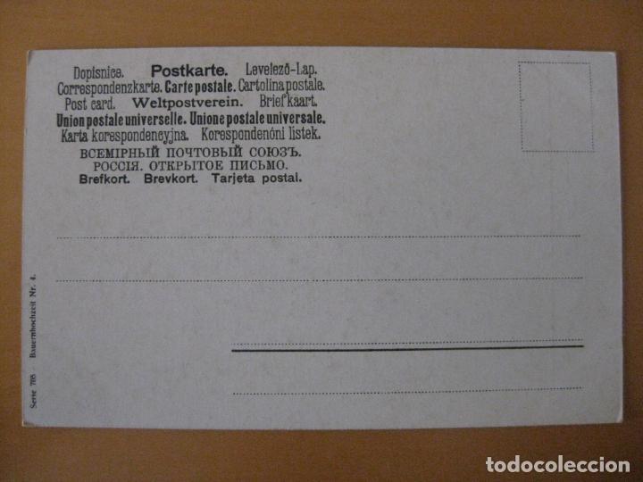 Postales: COSTUMBRES TIPOS DE EUROPA, AUSTRIA? BODA CAMPESINA - Foto 2 - 95343003