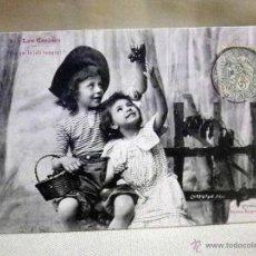 Postales: ANTIGUA TARJETA POSTA, Nº 3, LES CERISES, LAS CEREZAS, BEZIERS, FRANCIA, 1905, SELLO DE 5, BERGERET. Lote 95551167
