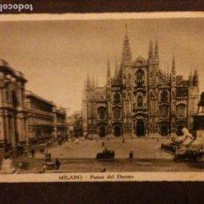 Postales: MILANO PIAZZA DEL DUOMO. Lote 95556003
