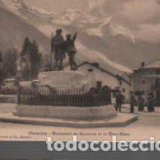 Postales: POSTAL DE CHAMONINIX ALTA MONTAÑA MONUMENT DE SAUSSURE - Nº 4048 CHARNAUX FRÈRES. Lote 95757263