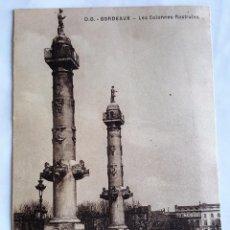 Postales: F 1886 POSTAL BURDEOS COLUMNAS ROSTRALES. BORDEAUX LES COLONNES ROSTRALES - DANDO BERRY SC. Lote 61061767