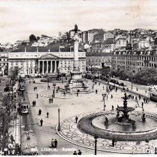 Postales: PORTUGAL 525 LISBOA - ROSSIO - ED, TORRES SIN CIRCULAR. Lote 97577503