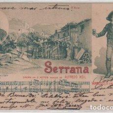 Postales: PORTUGAL. POSTAL DEL COMPOSITOR ALFREDO KEIL. SERRANO. MARCELLO MARIO ANCONA. CIRCULADA.. Lote 98126151