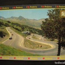 Postales: POSTAL - VALLS D´ANDORRA - SUBIDA AL PUERTO DE ENVALIRA.. Lote 98472367