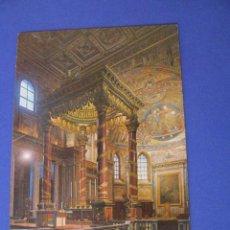 Postales: POSTAL DE ITALIA. ROMA. BASÍLICA DE STA. MAGGIORE. SIN CIRCULAR. ESTABA PEGADA.. Lote 98505219