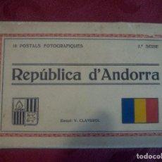Postales: REPUBLICA D'ANDORRA .- 10 POSTALS FOTOGRAFIQUES .- 2ª SERIE EDICIÓ V. CLAVEROL . Lote 98681831