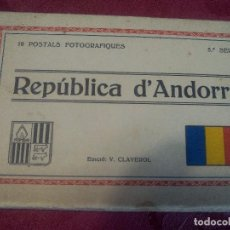 Postales: REPUBLICA D'ANDORRA .- 10 POSTALS FOTOGRAFIQUES .- 3ª SERIE EDICIÓ V. CLAVEROL . Lote 98682391